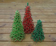 Beaded Christmas Tree Tutorial PDF Format by FlorenHandicrafts Christmas decorations are meant to be special and gorgeous. Christmas marks the beginning of holiday season. It is the best time of year to showcase your talent and creativity in home decor, g Beaded Christmas Decorations, Christmas Tree Pictures, Beaded Christmas Ornaments, Noel Christmas, All Things Christmas, Handmade Christmas, Christmas Earrings, Christmas Wreaths, Christmas Projects