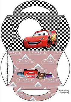 Risultati immagini per recuerdo de cars Cars Birthday Parties, Boy Birthday, Disney Cars Party, Pillow Box, Party In A Box, Childrens Party, Paper Toys, Craft, Printables