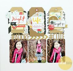 #adore, by Martha Bonneau by Jody Ferlaak using the Monterey Bay collection from www.cocoadaisy.com #cocoadaisy #scrapbooking #kitclub #layout #tags #grid