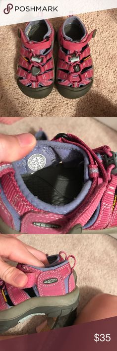 Girl Keen Sandals EUC. Maybe worn twice. Perfect water shoe or everyday shoe. Very durable!!!! Keen Shoes