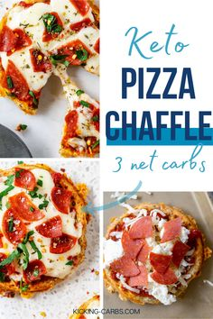 I love chaffles, and this Pizza Chaffle is a particular favorite of mine. A perfectly seasoned chaffle is topped with zesty marinara, two kinds of cheese, and pepperoni for an easy meal that always hits the spot. It makes a great low carb, gluten free, and lunch or easy weeknight meal and has just 3 net carbs per serving. Gluten Free Recipes For Breakfast, Gluten Free Dinner, Sugar Free Recipes, Keto Dinner, Easy Healthy Recipes, Lunch Recipes, Low Carb Recipes, Dinner Recipes, Pizza Recipes