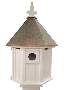 Octagon Bird House Song Bird Cellular PVC Verdigris Copper Roof *** Visit the image link more details.