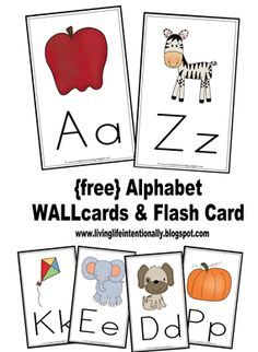 Alphabet wall cards and flash cards