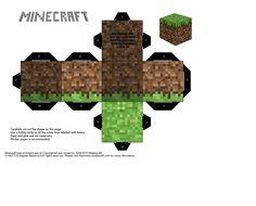 Paper Minecraft Dirt Block