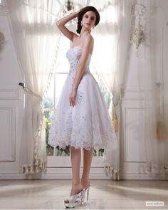 bridesmaid dresses Sweetheart Taffeta Organza Beading Ruffle Short Wedding Dress $155.19