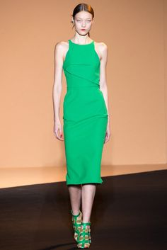 Yumi Lambert at Roland Mouret Spring/Summer 2015 | PFW, !my favorite color!