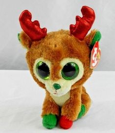 39d6f4ca5db New w Tag Christmas Ty Beanie Boo Red ALPINE Reindeer 6 inch  Ty
