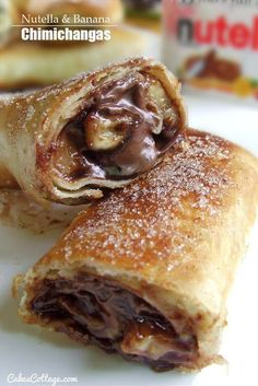 nutella and banana stuffed burrito