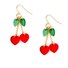 Katy Perry Cherry Drop Earrings | Claire's. I love wearing these at school!!!