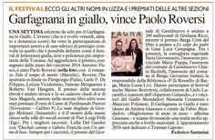 Garfagnana in giallo, vince Paolo Roversi - La Nazione - 02.12.2015