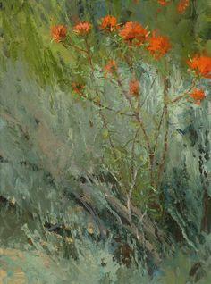 Len Chmiel, Breeze with Paintbrush, oil, 12 x 16.