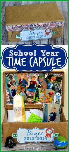 The School Year Time Capsule is a fun and creative way to preserve all those special memories that are created all year long! | MomOnTimeout.com | #MakeAmazing #school