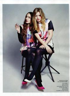 bohemea:    Lizzie Jagger & Georgia May Jagger: Sister Act - Vogue China by Max Vadukul, July 2012