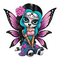"Jasmine Becket-Griffith ""Bright Sofia"" Sugar Skull Figurine: First-ever Jasmine Becket-Griffith fairy figurine inspired by the mystical sugar skull art. With a unique JBG remarque. Sugar Skull Artwork, Candy Skulls, Sugar Skulls, Day Of The Dead Art, Fairy Pictures, Gothic Fairy, Fairy Figurines, Baby Fairy, Fairy Art"