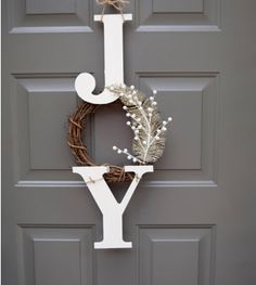 For the front door...cute, tasteful, simple, holiday wreath. #christmas #decor