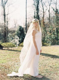 Why decide between a flower crown and a veil when you can have both? #etsyweddings