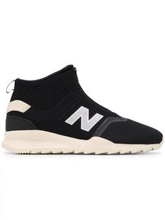 c8186c42b173e NEW BALANCE NEW BALANCE MS247 MID-TOP SNEAKERS - BLACK.  newbalance  shoes