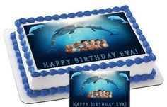 DOLPHIN Characters Edible Cake & Cupcake by CakeTopperSpecialist