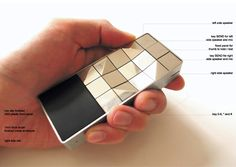 Tactile mobile phone for the blind by peter lau  http://www.designboom.com/design/touching-a-mobile-phone-for-the-blind/