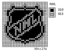 Crochet Fanatic: NHL Logos and Name Plates Perler Patterns, Loom Patterns, Beading Patterns, Cross Stitch Patterns, Pearler Beads, Fuse Beads, Plastic Canvas Crafts, Plastic Canvas Patterns, Crochet Square Blanket