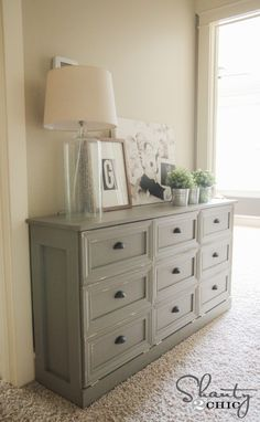 Laundry Basket Console Table. Love this idea and could put it in the hallway or central location for everyone to add to.