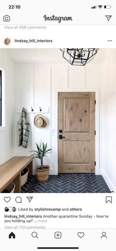 White Light, Black And White, Hill Interiors, Entryway Bench, Home Remodeling, Wood, Furniture, Home Decor, Interior Ideas