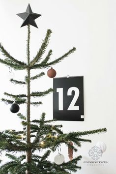 Christmas tree and callendar by Ma Maison Blanche