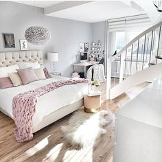 Trendy Bedroom Inspo Dream Rooms Home Office Ideas Cute Bedroom Ideas, Girl Bedroom Designs, Awesome Bedrooms, Trendy Bedroom, Modern Bedroom, Girls Bedroom, Adult Bedroom Ideas, Bed Designs, Dream Rooms