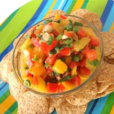 "Nicole's Mango Salsa | ""A staple in our home. My kids and husband request this often! It goes well with spicy shrimp, Cajun-spiced halibut, or by itself with tortilla chips!"""