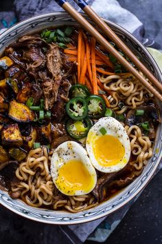 do-not-touch-my-food:  Pork Ramen Noodle Soup with Curry Roasted Acorn Squash