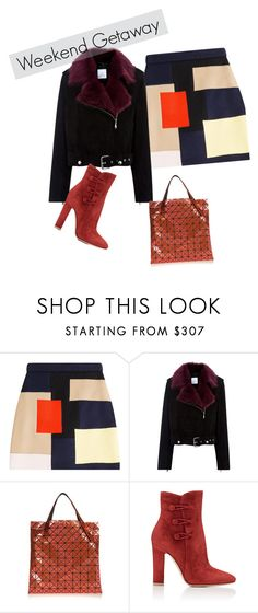 """""""Coral"""" by lorika-borika ❤ liked on Polyvore featuring MSGM, La Bête, Bao Bao by Issey Miyake and Gianvito Rossi"""