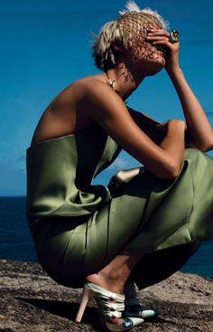 Vogue Nippon May 2012 - Saskia DeBrauw by Patrick Demarchelier