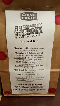Customer Service Survival Kit … | Gifts and Gift Wrapping ...