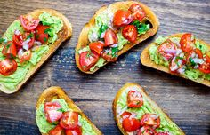 Guacamole Bruschetta Toast; this recipe is what would happen if guacamole and bruschetta had a lovechild. #werenotmad #guacamole #recipes #nationalguacamoleday