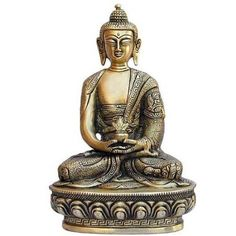 Amazon.com: Meditation Buddha Brass Collectibles and Figurines: Home & Kitchen