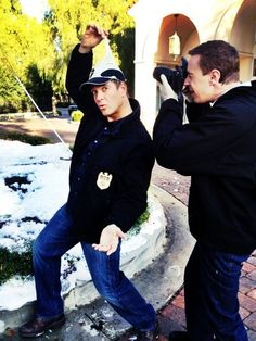 Michael Weatherly and Sean Murray - ncis Photo