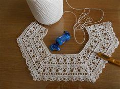 Crochet Lace Collar, Gilet Crochet, Crochet Yoke, Crochet Girls, Crochet Baby Clothes, Crochet Jacket, Irish Crochet, Crochet For Kids, Crochet Stitches