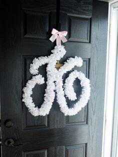 Flower door monogram
