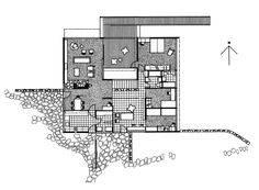 Floor Plan of Rose Seidler House. (71 Clissold Road, Wahroonga, NSW, Australia)