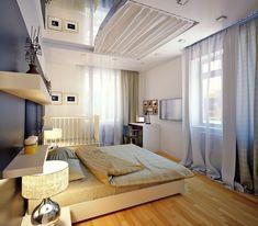 espejo en el techo del dormitorio romàntico
