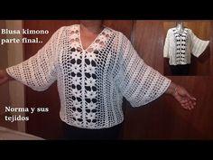 Blusa a crochet con pétalos para la primavera (parte 2) - YouTube