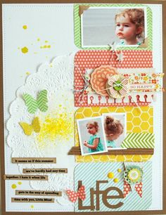 Life layout by Jen Gallacher - Two Peas in a Bucket #scrapbooking