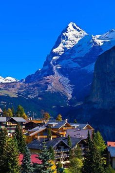 Murren, in the Swiss Alps, with the Eiger behind, Canton Bern, Switzerland - Fadi Khalil - Google+