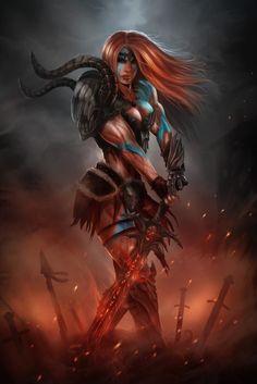 Diablo III Barbarian by el-sharko.deviantart.com on @DeviantArt