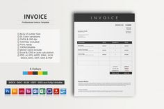 Border Invoice Template Docx By Inkpower On Creativemarket - Invoice template docx