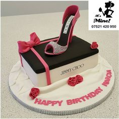A Jimmy Choo shoe birthday cake by It's Mine Cakes