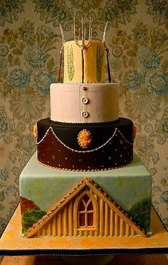 American Gothic Cake, beyond cool. #cakewrecks #sundaysweets