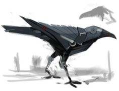 Crows could be the key to understanding alien intelligence Robot Bird, Robot Animal, Arte Robot, Character Concept, Character Art, Art And Illustration, Cuadros Star Wars, Millenium, Futuristic Technology