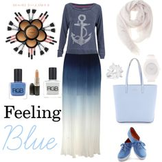 """Feeling Blue"" by thisisika on Polyvore"