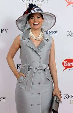 Actress Debra Messing, star of 'Will & Grace' arrives for the 138th Kentucky Derby horse race at Churchill Downs Saturday, May 5, 2012, in Louisville, Ky